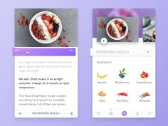 This a concept mobile application for food recipes. Hope you like it. :)  Check the attachment for full view.