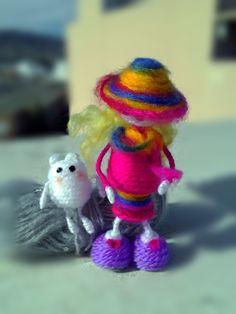 Ella y la muñeca del gato de Regalosuerte en Etsy