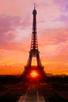 plasmatics-life:  Sunset in Paris ~ By Most-Amazing-Pictures