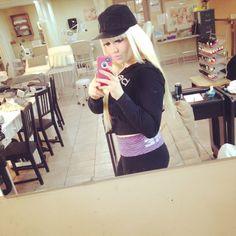 School life blonde babe me in class just taking selfies on my break