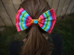 You'll go over the rainbow for this cute hair bow by thehairpolice, $3.50