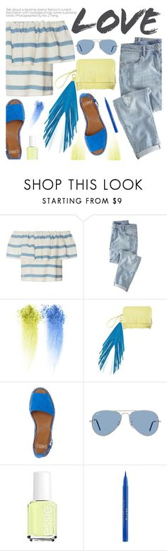 """Shimmy, Shimmy: Off-Shoulder Tops"" by pokadoll ❤ liked on Polyvore featuring Mara Hoffman, Wrap, NARS Cosmetics, The Volon, Franco Sarto, Ray-Ban, Essie, Stila, polyvoreeditorial and polyvoreset"