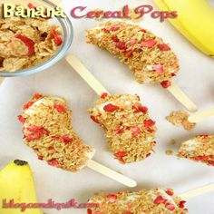 Banana Cereal Pops