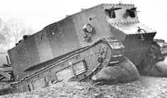 """""""Little Willie"""" was the first prototype tank in WWI. Built in 1915, it carried a crew of three and could travel as fast as 3 mph (4.8 km/h)."""