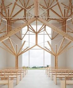 """Polubienia: 14.4 tys., komentarze: 59 – designboom magazine (@designboom) na Instagramie: """"japanese architect yu momoeda has completed a chapel whose interior comprises a structural system…"""""""