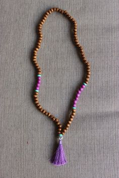 Lavender Waters Beaded Tassel Necklace by shopjustpeachy on Etsy, $22.00