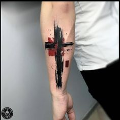 Cross Tattoo For Men, Cross Tattoo Designs, Tattoo Sleeve Designs, Tattoo Designs Men, Sleeve Tattoos, Daddy Tattoos, Arm Tattoos For Guys, Forearm Band Tattoos, Body Art Tattoos