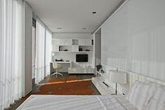Desk + entertainment unit for compact space // S House by Tanju Özelgin