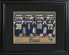 St. Louis Rams Locker Room Photo