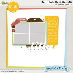 Scrapping with Liz: July's Template Blog Challenge - Template Revisited 48