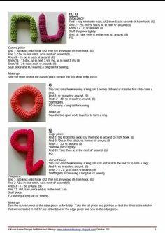 Patron Abecedario crochet letras amigurimi 3D