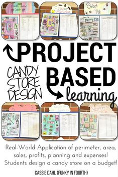 Engage your students with a hands-on project. They will practice area, perimeter, sales, profits and so much more! After designing their candy store, students will walk through the pricing and inventory process.