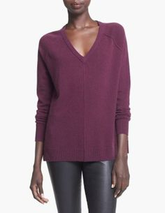 We are crushing on the deep color of this sweater.