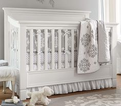 Genevieve Nursery Bedding Set | Pottery Barn Kids This is cute too.   You could just add accents of lilac around the room.