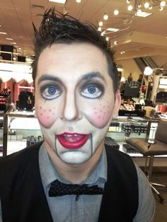 Male Ventriloquist Dummy Makeup