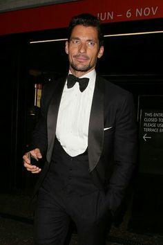 David Gandy leaving the GQ Men Of The Year Awards 2016