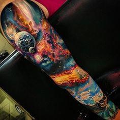 Done by Roman Abrego, tattoo artist at Artistic Element 2 Tattoo Studio, LA…