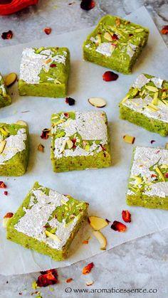 Step by step pictorial recipe to make badam pista burfi (almond and pistachio fudge) using 3 basic ingredients. No khoya/mawa, badam pista burfi recipe.