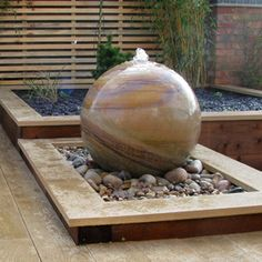 modern garden water features - Google Search