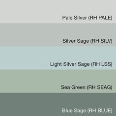 """Silver Sage is the BEST paint color of ALL time.   SwatchDeck   Restoration Hardware """"Silver Sage Collection"""""""