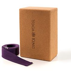 Cork Yoga Block 4 x 6 x 9 and Bonus Yoga Strap  Ideal For Yoga Pilates Fitness and Gym Activities  Improved Flexibility and Alignment  Lightweight and Natural Yoga Brick by YogaKing >>> Check out this great product.(This is an Amazon affiliate link and I receive a commission for the sales) #YogaAccessories