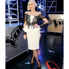 Gwen Stefani wearing Philip Armstrong at The Voice Knockouts.Styled by #RandM.