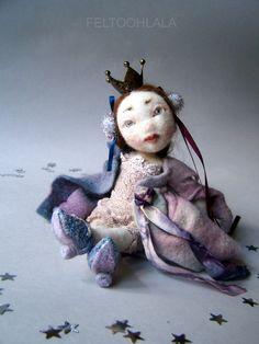 "OOAK pixie fairy art doll ""Shay"" by feltoohlala on Etsy"