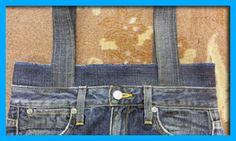 ジーンズそのままトートバッグの作り方【ジーンズリメイク】【Gパンバッグの作り方】|Gパンをバッグにリメイク【7つのコツ】で上手に出来る♪本格的ジーンズバッグの作り方