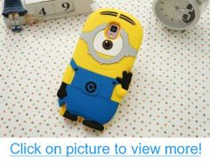HM-ANT(TM) Despicable Me Minions Soft Silicone Case Defender Cover for Samsung Galaxy Note 3 III N9000 with Retail Package (White one eye)