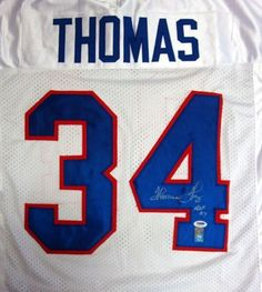 Thurman Thomas Autographed Bills White Jersey HOF 07 PSA DNA .  99.00. This  is a Buffalo Bills jersey that has been hand signed by Thurman Thomas. a89a7a6b1
