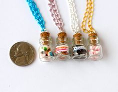 miniature food bottles