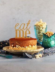 Hoy venimos con una receta muy golosa. Un cheesecake de nutella con una base crujiente de palomitas de maíz!! Te animas a probarla?