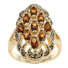 @Overstock - Crystal cluster ringThis ring is available in size 9 onlyClick here for ring sizing guidehttp://www.overstock.com/Jewelry-Watches/Gold-and-Chocolate-Crystal-Cluster-Ring/6724558/product.html?CID=214117 $10.99