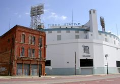 Old Tiger Stadium, Michigan Ave at Trumbull St, Detroit, MI Detroit Sports, Detroit Tigers Baseball, Detroit Lions, White Sox Baseball, Baseball Park, Baseball Field, Tiger Stadium, Sports Stadium, Stadium Tour