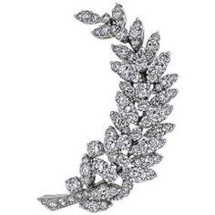 Tiffany & Co. 1980s Diamond Floral Brooch