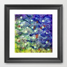 Transparent war of Color's V2 Framed Art Print by seb mcnulty - $32.00