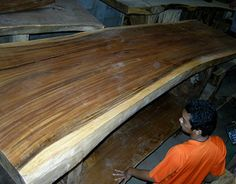 Thick wood slabs made from real hardwood for sale. Wood Slab Table, Solid Wood Table, Live Edge Wood, Live Edge Table, Hardwood For Sale, Diy Tops, Decoration, Furniture Decor, Behance