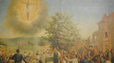 El día en que Jesús Crucificado se apareció en el cielo de México ACI Prensa El domingo 3 de octubre de 1847, antes de celebrarse una Misa en el camposanto de la capilla de La Purísima Concepción en la ciudad de Ocotlán, en México, más de 2 mil personas fueron testigos de una imagen perfecta de Jesucristo Crucificado que   LAUDES y VÍSPERAS: Google+