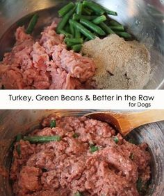 Homemade Dog Food Recipe - Raw or cooked