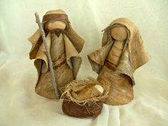 Natural Hawaiian Coconut Nativity, 6""