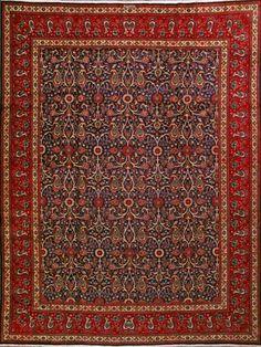 "Tabriz Persian Rug, Buy Handmade Tabriz Persian Rug 9' 10"" x 12' 10"", Authentic Persian Rug"