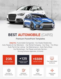 Best Automobile PowerPoint Templates | Cars PPT Themes Auto Parts Shop, Car Workshop, Car Backgrounds, Tyre Shop, Automobile Companies, Car Rental Company, Car Restoration, Driving School, Auto Service