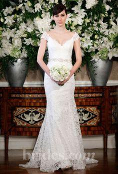 lace wedding dresses with sash | romona keveza lace wedding dress fall 2013