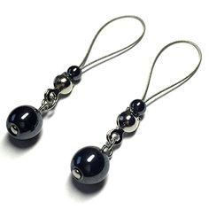 Nipple Jewelry Noose Gemstone Hematite | #nipplerings #nipples #nipplenoose #bodivas