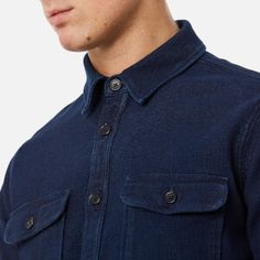 Edwin Men's Loggerhead Popover Shirt - Rinsed: Image 4