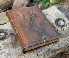 Leather wedding guest book Tree of life Bridal Shower