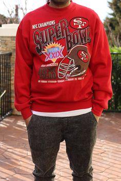 Vintage San Francisco 49ers Super Bowl XXIX Champions Crewneck Sweatshirt  (L) in Sweats   574da949a