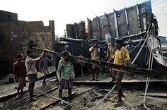 Chittagong: Ship-breaking in Sitakundu, Bangladesh - 01 Jan 2010
