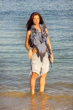 Tribull Unisex Scarf in Blue Ombre. #tribull #tribullscarves #scarf #unisex #love #blue #winter #fashion #bohemian #tribal