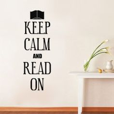 Sticker Keep Calm and Read On Keep Calm And Read, British Phrases, Les Stickers, British Country, Country Maps, Decoration, Wall Decals, Art Deco, Reading